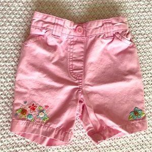 *3 for $15* - Gymboree embroidered shorts - 6-12m